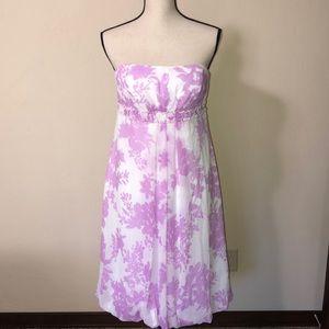 David's Bridal Strapless Polyester Dress Size 10